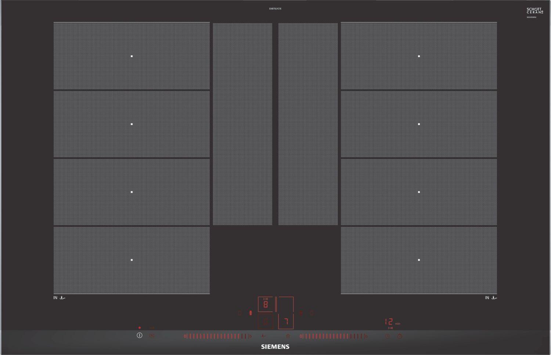 teamsix ex875lyc1e edelstahl schwarz siemens elektro gro piani di cottura. Black Bedroom Furniture Sets. Home Design Ideas