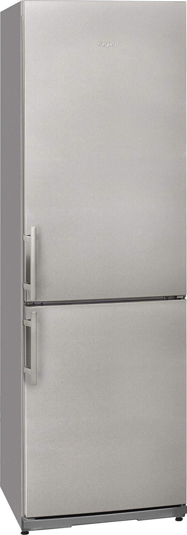 teamsix kgc 35 1a stg inox look exquisit gro ger te combinati frigo congelatore. Black Bedroom Furniture Sets. Home Design Ideas