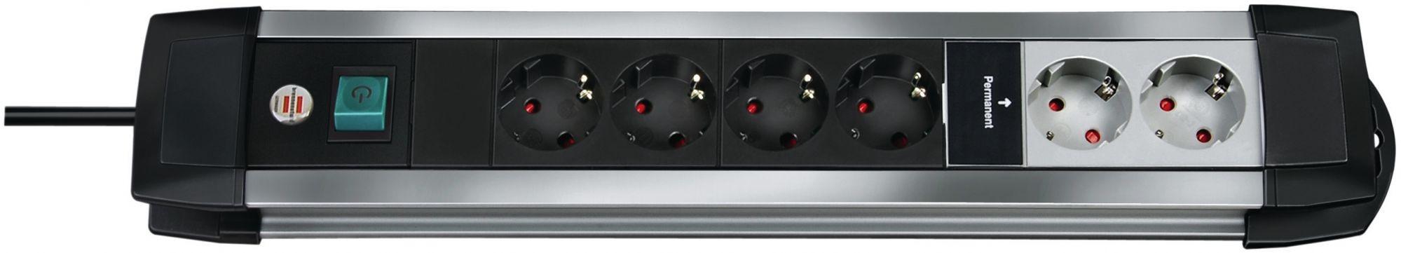 teamsix premium alu line 6 fach 3m h05vv f 3g1 5 brennenstuhl materiale da collegamento. Black Bedroom Furniture Sets. Home Design Ideas