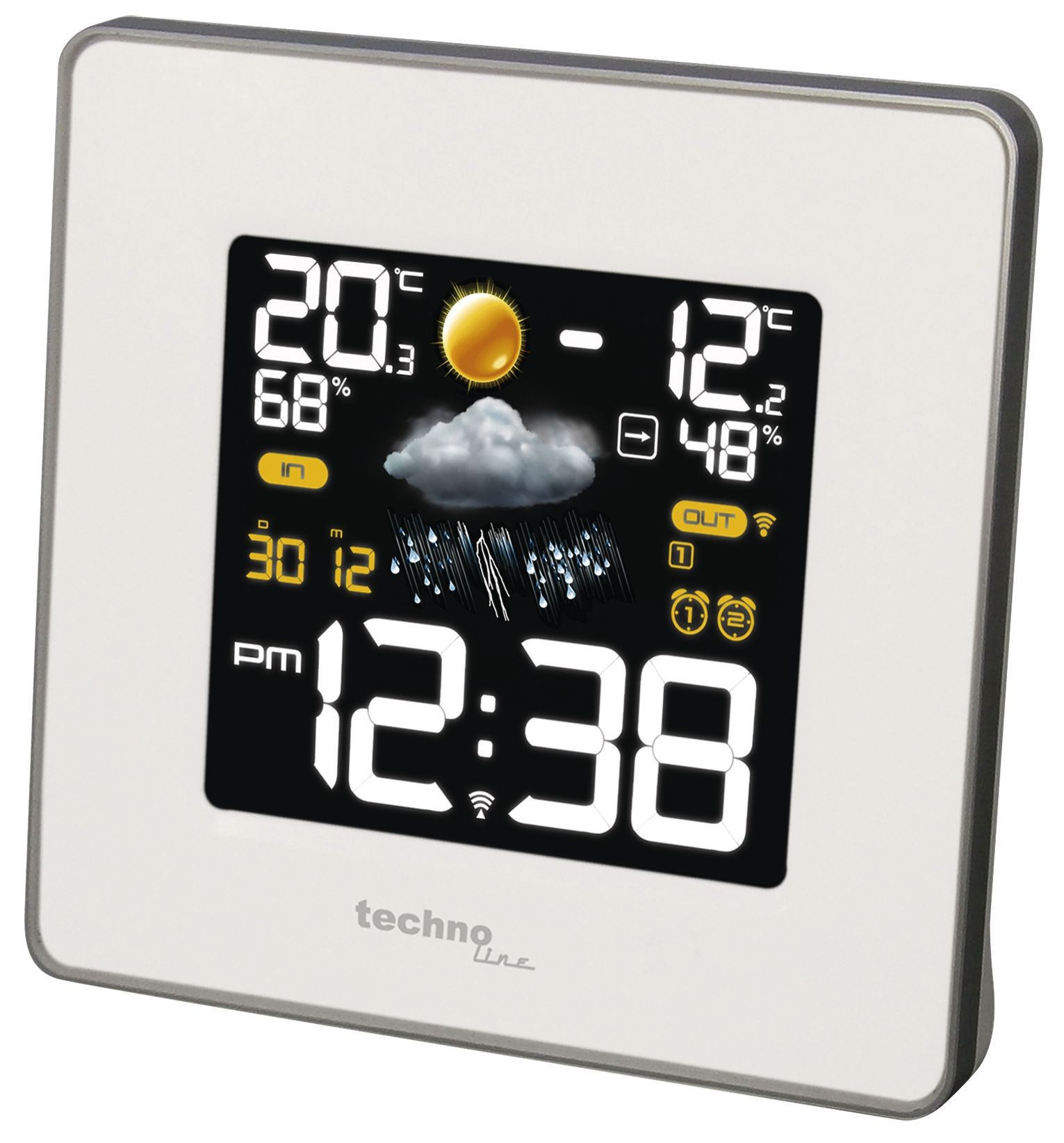 teamsix ws 6440 weiss technoline wetterstationen thermometer. Black Bedroom Furniture Sets. Home Design Ideas