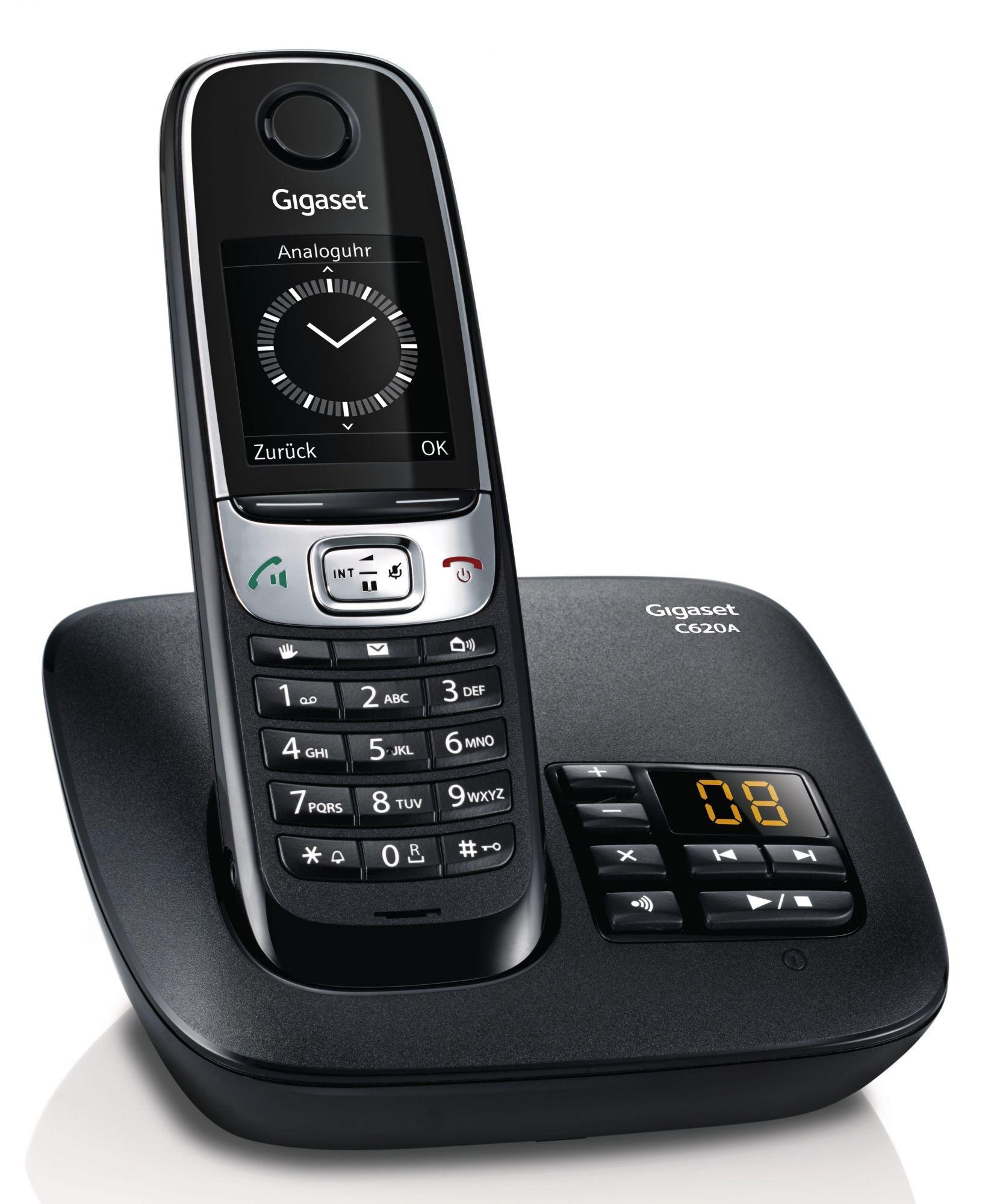 teamsix gigaset c620a schwarz gigaset festnetz telefoni. Black Bedroom Furniture Sets. Home Design Ideas
